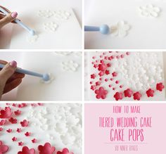 tutorial fondant flowers how to make wedding tiered cake pops by niner bakes