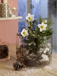 Enchanting: Elfenzarte Christmas rose deco - #christmas #elfenzarte #enchanting