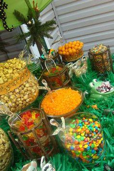 31 Ideas Baby Shower Ideas For Boys Jungle Theme Dessert Tables Jungle Theme Birthday, Jungle Theme Parties, Baby Birthday, Jungle Party, Jungle Snacks, Birthday Ideas, Birthday Parties, Baby Shower Party Favors, Baby Shower Parties