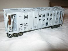 HO Scale Milwaukee Road Covered Hopper 97093 by CrustysToyshop, $7.99