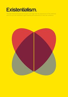 Philographics, big ideas in simple shapes - Existentialism