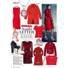 Harper's Bazaar Malaysia Editorial Scarlet Letter, November 2013 Shot... ❤ liked on Polyvore featuring editorials