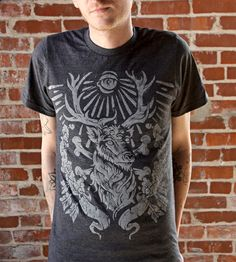 Black Stag T-Shirt by Straw Castle on Scoutmob Shoppe. This vintage-style tee features a stag design inspired by old hunting rituals.