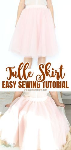 Ever wondered how to make a tulle skirt for ladies? Making a tulle skirt is pretty much the same for little girls and women and this DIY tulle skirt tutorial makes the whole process so easy peasy! #easypeasycreativeideas #sewing #sewingtutorial #sewingprojects #sewingforwomen #sewingskirts #sewingforbeginners Skirt Patterns Sewing, Sewing Patterns For Kids, Easy Sewing Projects, Sewing For Kids, Free Sewing, Fabric Patterns, Sewing Tutorials, Clothing Patterns, Smocking Patterns