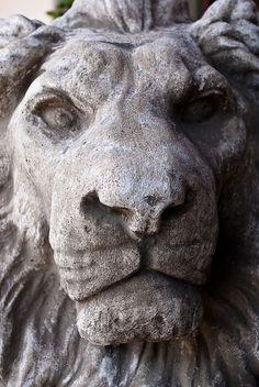 Stone lion in Carmel, California