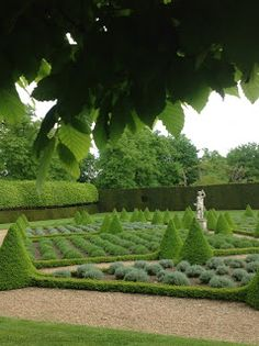 The Magical Christmas Wreath Company: Parterre and box topiary garden at Ham House & Gardens, Richmond, Surrey.
