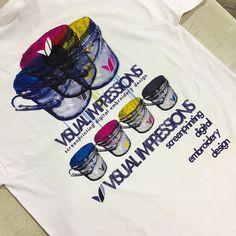 Printed Visual Impressions Employee Shirt Back Digital Prints, Printing, Shirts, Fingerprints, Dress Shirts, Shirt