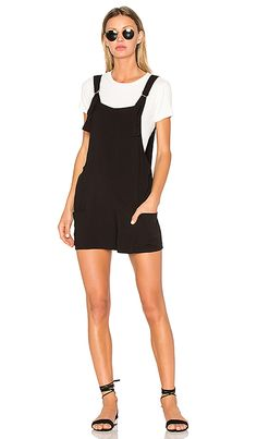 a22a5ac1ccb V Back Overall in Black Overalls Fashion
