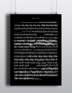 Affiches musicales by Louis-Pier Charbonneau, via Behance Experimental Type, Type Posters, Archaeology, Letter Board, Crisp, Opera, Literature, Language, Behance