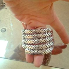 John hardy triple coil bracelet Silver and black dot detail John Hardy Jewelry Bracelets