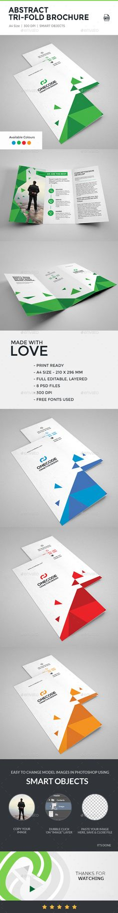 Abstract Tri-Fold Brochure Template PSD #design Download: http://graphicriver.net/item/abstract-trifold-brochure/14396631?ref=ksioks