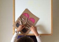 Shoe Lacing, Montessori-Style