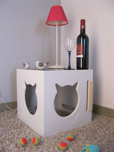 Cat cave version 4 /Petlovers/ Catlovers /Cat door Wooddesigndforyou