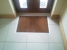 Surprisingly few pictures of sunken doormats on Google! But I want one at the front door and also at the patio door (cash permitting...) Cos then there's no trip hazard, wheels go over easily, cat having zoomies doesn't move it around and you don't need rising door hinges. It's a winner!