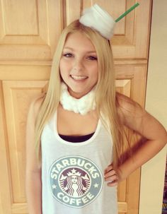 DIY Starbucks latte costume