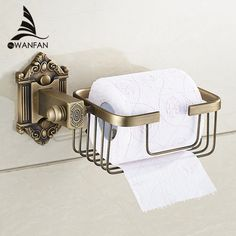New Wall Mounted Bathroom Antique Brass carving Toilet Paper Holder bathroom copper basket shelf toilet roll holder WF-71216 #CLICK! #clothing, #shoes, #jewelry, #women, #men, #hats, #watches