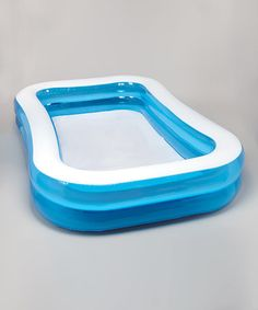 intex blue white rectangle inflatable pool