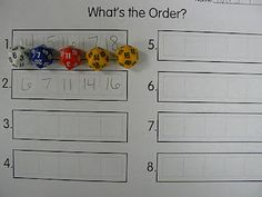 Mrs. T's First Grade Class: Ordering Numbers with Dice