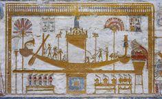 [Egypt 29905] 'Sacred barque of Osiris at Abydos.'