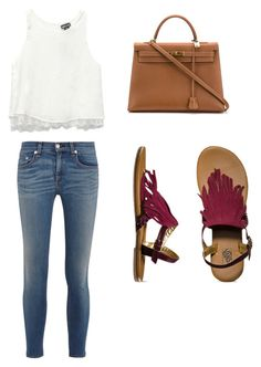 """""""I'm not considering fall... fall yet ~S"""" by sarahkelly-s ❤ liked on Polyvore featuring Wet Seal, Hermès, rag & bone, Vans and fringe"""