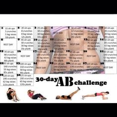 Going to add this 30 day Ab challenge into my routine