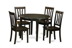East West Furniture BOAN5-CAP-W 5-Piece Kitchen Table Set, Cappuccino Finish  http://www.furnituressale.com/east-west-furniture-boan5-cap-w-5-piece-kitchen-table-set-cappuccino-finish/