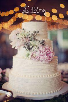 Wedding Cake Topper - Wire Cake Topper - Je t'aime Cake Topper - Personalized Cake Topper - Rustic C