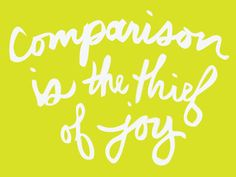 Mamamekko: Comparison is the thief of joy
