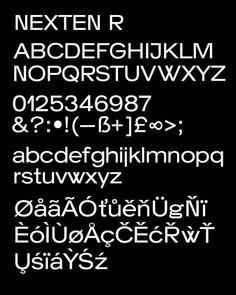 Nexten typeface