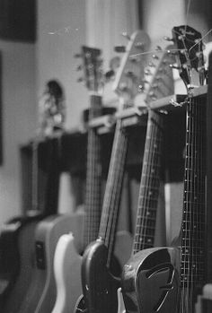 Next came a space cluttered with guitars, amps, and other rock 'n' roll paraphernalia. - Lick