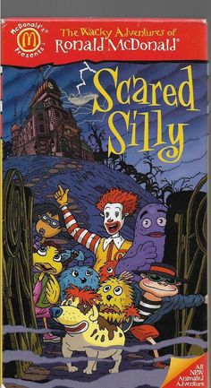 THE WACKY ADVENTURES OF RONALD MCDONALD - SCARED SILLY vhs