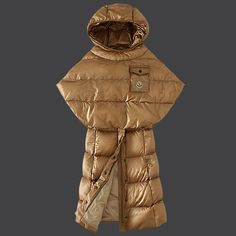 2013 New! France Moncler Featured Down Coats Womens Hooded Light Tan Outlet