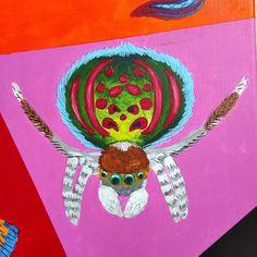 """277 kedvelés, 2 hozzászólás – Horváth Kincső Art (@horvathkincso_art) Instagram-hozzászólása: """"Állati színek: Pávapók 🕷️🦚🥰 #peacockspider #animalistic #acrylicpainting #spider #contemporaryart…"""" Spiderman, Hats, Instagram, Spider Man, Hat, Hipster Hat, Amazing Spiderman"""