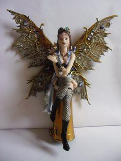 Steampunk Fairy figurine #Steampunk #Sculptures