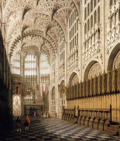 The Interior of Henry VII's Chapel in Westminster Abbey, Canaletto. Italian (1697-1768)