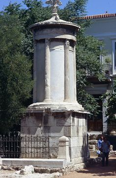Figure Choragic Monument of Lysicrates, Athens (Loth) The Corinthian of the Choragic Monument of Lysicrates Classical Comments by Calder Loth Classical Architecture, Architecture Art, Athens Acropolis, Corinthian, Ancient Romans, Ancient Greece, Art History, Fountain, Greek