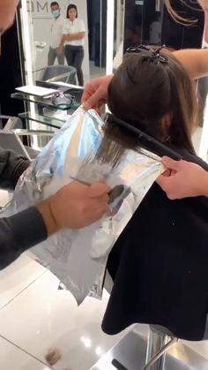 Dark Brunette Balayage, Brown Blonde Hair, Hair Cutting Techniques, Hair Color Techniques, Balayage Hair Tutorial, Peach Hair, Keratin Hair, Light Hair, Hair Transformation