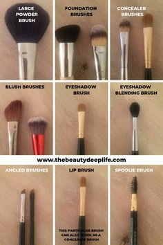 Beginner Makeup For The Everyday Woman - The Beauty Deep Life Makeup Brush Uses, Eye Makeup Brushes, Contour Makeup, Skin Makeup, Brushes For Eyeshadow, Makeup Dupes, Makeup Eyeshadow, Makeup Tutorial For Beginners, Makeup Tips For Beginners