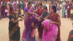 Telangana Government's Saree Gift Leaves Many Women Fighting, Screaming