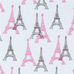 Vive La France by Michael Kaufman. Tour Eiffel, Paris Eiffel Tower, Eiffel Towers, Paris Canvas, Paris Birthday, Polycotton Fabric, Paris Images, Modes4u, Retro Fabric