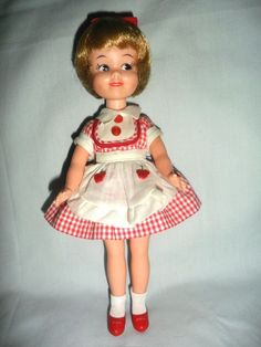 1964 PENNY BRITE DOLL in KITCHEN DRESS & APRON, PLUS SHOES, SOCKS & PETTICOAT