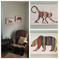 """Monkey & Bear (Mini) Cut-Outs 