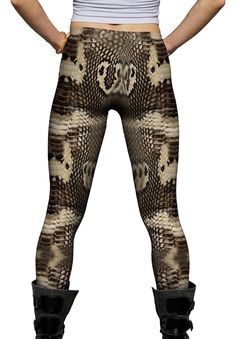 Amazon.com: Yizzam- Cobra Snake Skin -New Ladies Womens Leggings: Clothing
