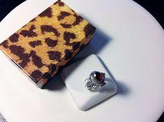 Poison Ring-Sterling Silver 925-Garnet Gem-Secret Compartment-Opens-Locket-Red-6 #Unbranded #PoisonLocket #BirthdayLittleSurpriseGift