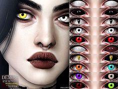 Sims 4 Praline Sims ND Demon Eyes (+Heterochromia) Heterochromia Eyes, Sims 4 Cc Eyes, Eye Texture, Demon Eyes, Custom Eyes, Flag Photo, Anime Eyes, Anime Demon, Electronic Art
