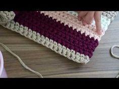 Troca de cor no crochê - Fio de malha - YouTube