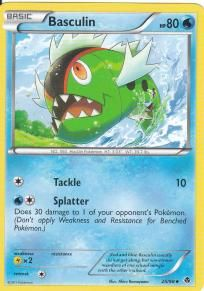 Pokemon Black and White Emerging Powers TCG Uncommon Card- Basculin #25
