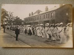 Suffragettes Marching Rally
