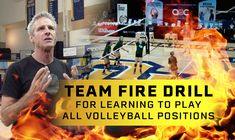 "Let's start the year off HOT⁠—with a drill from 3-time Olympian Karch Kiraly. 🔥 The ""fire drill"", which is a chaotic drill that teaches players to play each position. See how the drill works here!"