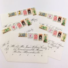 Beautiful Vintage Postage | Botanical Wedding Invitation Stamps from Magnolia Postage